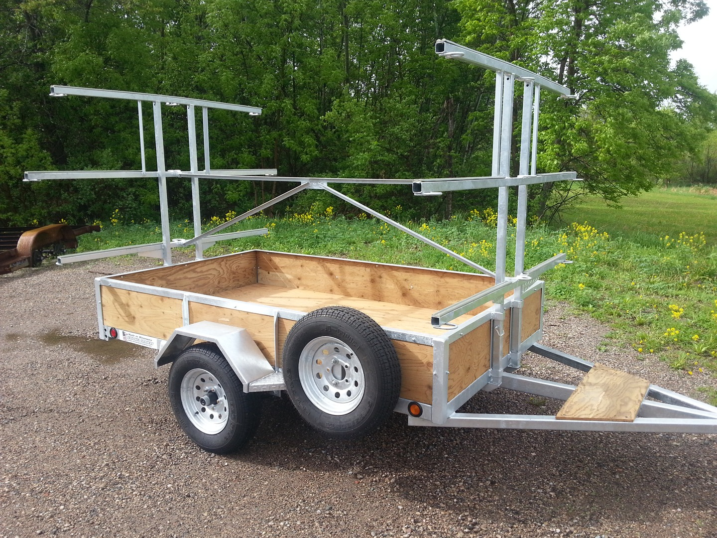 Galvanized 6 Place Canoe Amp Kayak Trailers For Sale