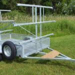 6 place 5x8 canoe trailer or kayak trailer with mesh gear box