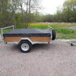 A shippable 1-2 place canoe or kayak trailer