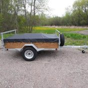 A shippable 1-2 place canoe or kayak trailer