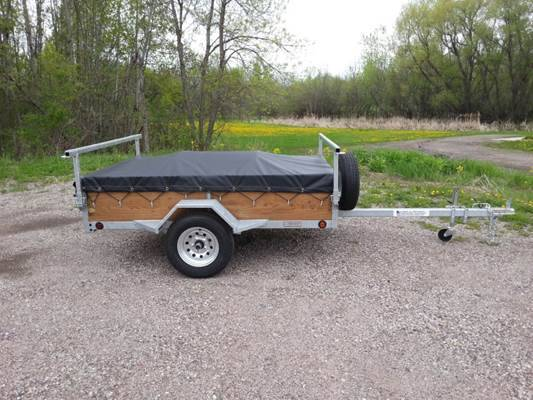 1 Or 2 Place Small Canoe Kayak Trailers For Sale Remackel Trailers