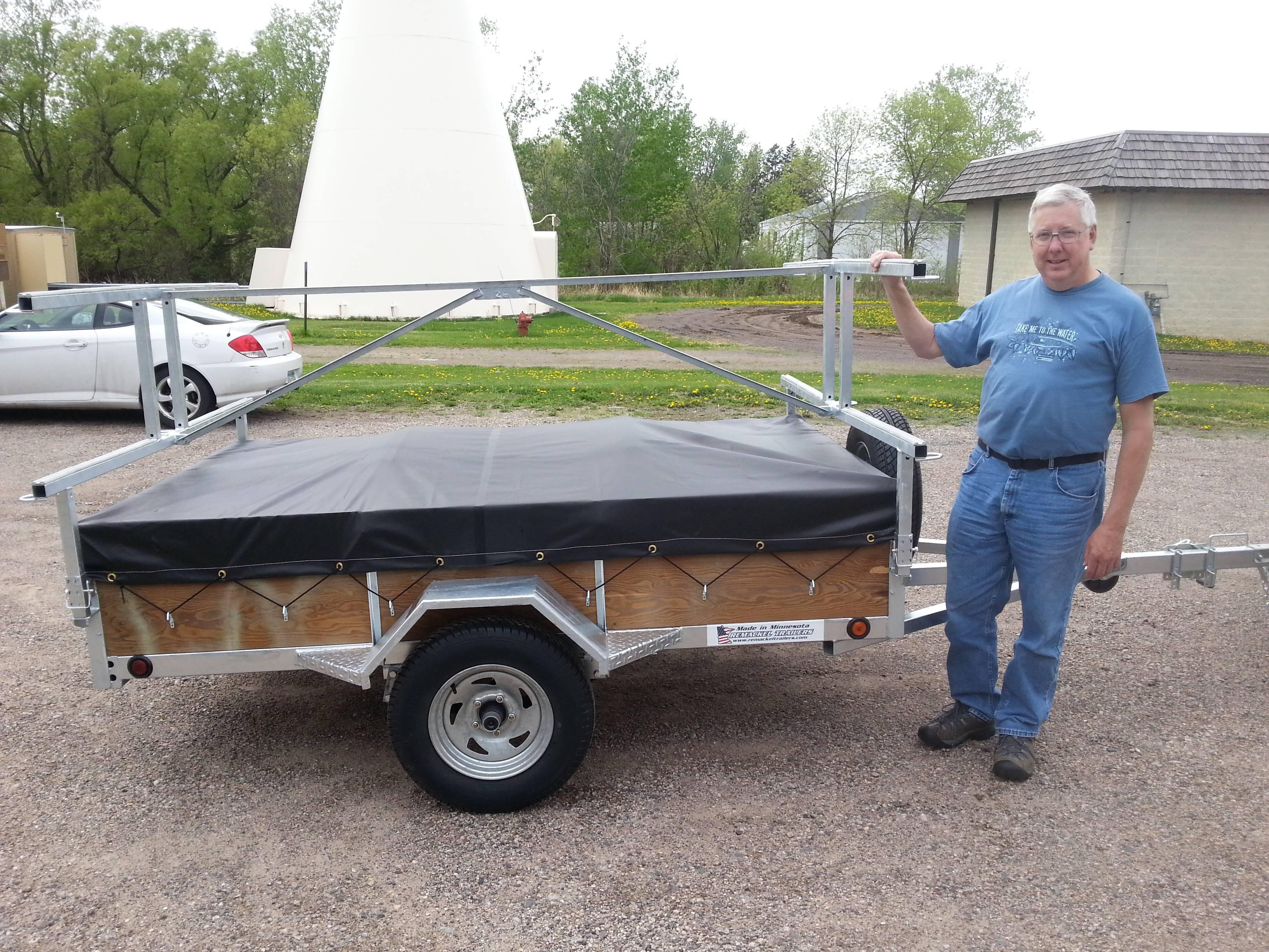 Wisconsin canoe trailer