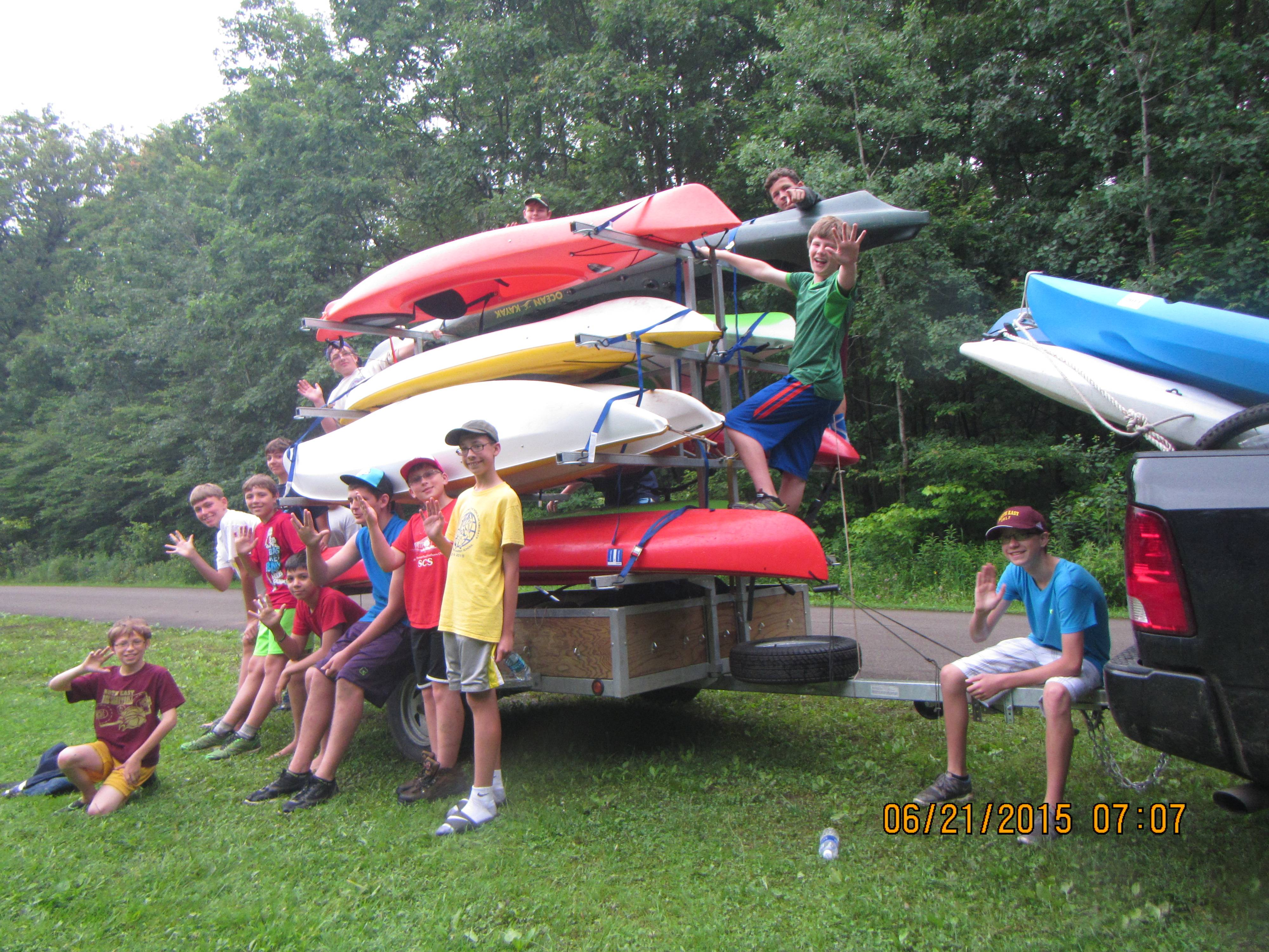 Boy Scout Troop Kayak Trailer