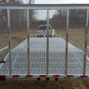 SL 7 galvanized equipment trailer with full ramp