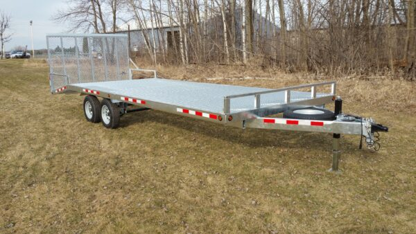 SL 7 galvanized equipment trailer with full ramp