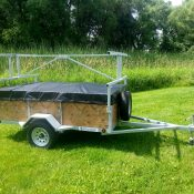 "4 Place 5x8 with 24"" sides Canoe/Kayak Trailer"