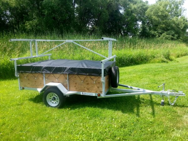 """4 Place 5x8 with 24"""" sides Canoe/Kayak Trailer"""
