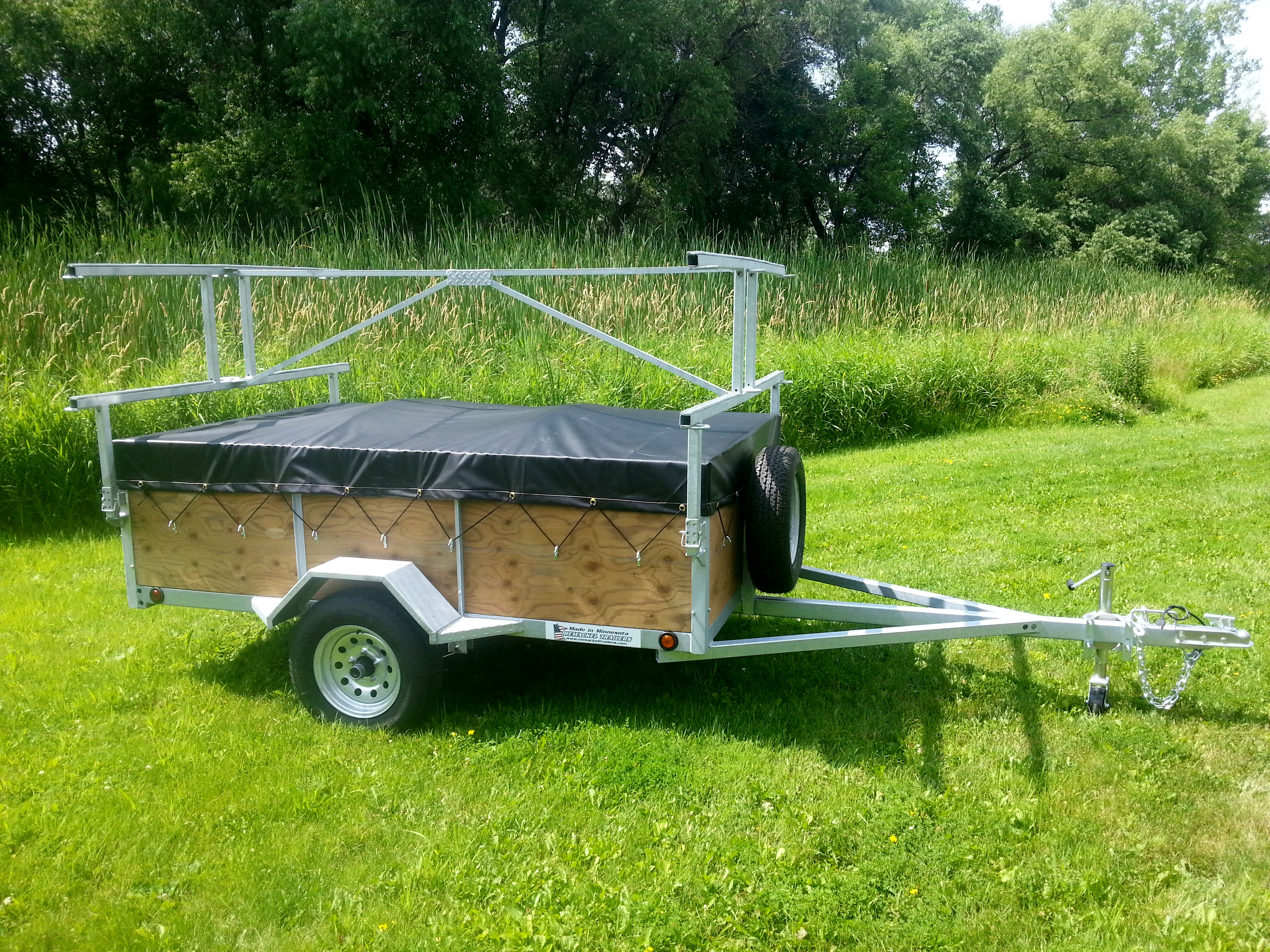 4 place kayak canoe utility trailers for sale remackel for Home made product for sale