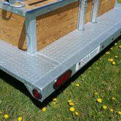 8 place canoe trailer steel loading step