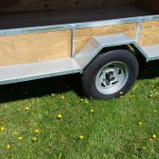 8 place canoe trailer with loading step