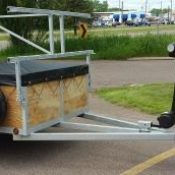 4 Place canoe trailer with optional Bike Rack mount package