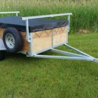 1-2 place 5x8 canoe trailer and kayak trailer with 24 inch sides