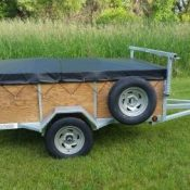 1 or 2 place 5x8 canoe trailer or kayak trailer with 24 inch sides