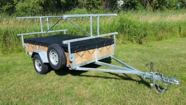 4 place 5x8 canoe trailer and kayak trailer with 16 inch sides