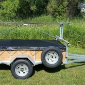 4 place 5x8 canoe trailer or kayak trailer with 16 inch sides