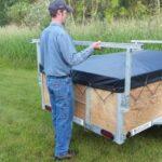 Removing canoe or kayak racks on a 1 or 2 place canoe trailer or kayak trailer